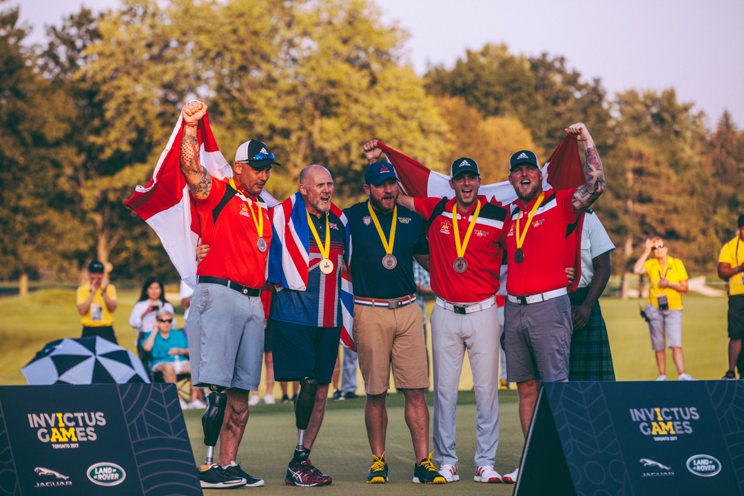 Male Golf Medalists on 18.