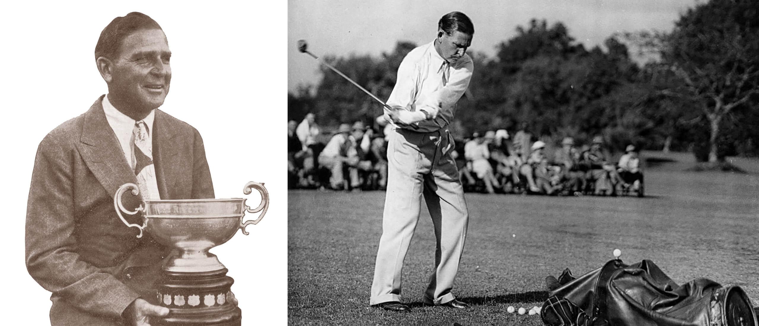 1933 – Joe Kirkwood with the Open Trophy